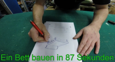 Holzbot – Ein Bett in 87 Sekunden bauen!